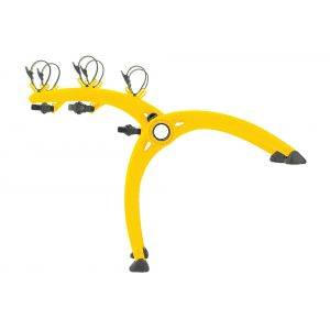 Suport biciclete Saris Bones 3 Yellow pentru 3 biciclete cu prindere pe haion/portbagaj