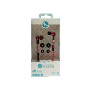 Casti audio handsfree FIFO MyMe Black cu telecomanda pe fir - sport, handsfree, telecomanda