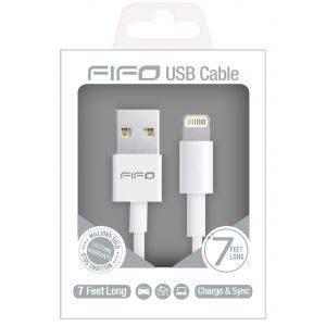 Cablu USB-iPhone FIFO White - cablu incarcare, USB